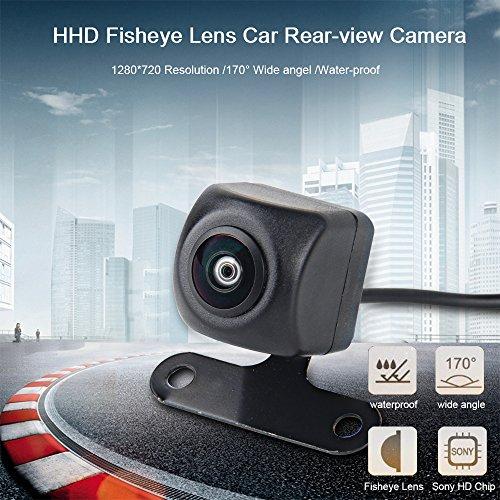 Dasaita universale impermeabile per retromarcia fotocamera con obiettivo fisheye HD veicolo parcheggio 170Wide Angel