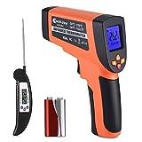 Termometro infrarosso Pistola Digitale -50 ? ~ 550 ? (-58 ? ~ 1022 ?) di CookJoy per Esterni/interni&LCD Retroilluminato, Laser Termometro Batteria Inclusa