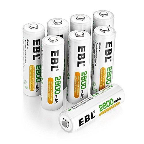 EBL wiederaufladbare Batterien 2800mAh AA Ni-MH, 8 Stück
