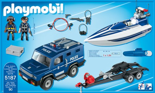 PLAYMOBIL 5187 – Polizei-Truck mit Speedboot - 3