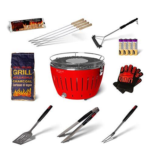Revolio No. 1 Barbecue Portatile a Carbone Senza Fumo, griglia in Acciaio Inossidabile - 35 x 26 x...