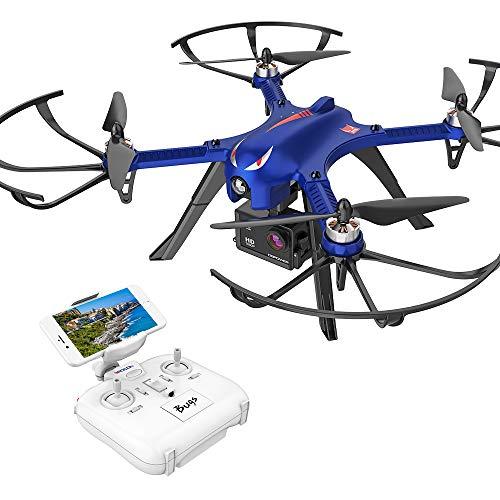 DROCON Bugs 3 Potente motore brushless Quadcopter Drone, Gopro Drone ad alta velocità, per adulti e hobbisti, Support Gopro HD 4K Camera, 18 Minuti di volo 300 Metri Gamma di controllo lungo, Blu