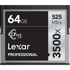 'Lexar lc64gcrbeu3500Professional 3500X (525mb/S) Pro CFast CompactFlash Tarjeta de Memoria, 64GB