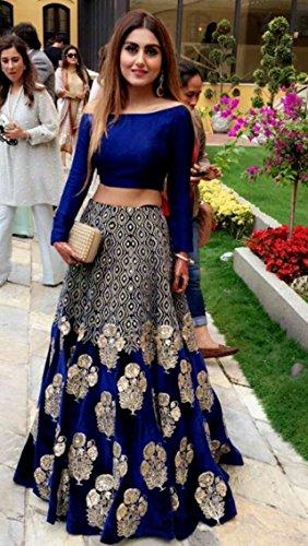 Akk Enterprise Women'S Georgette Long Cholis Lehenga Choli (Shreehari-71_Multi-Coloured_Free Size)