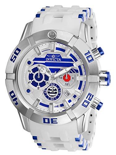 Invicta 26551 Star Wars - R2-D2 Herren Uhr Edelstahl Quarz weißen Zifferblat