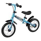 ENKEEO Laufrad Sport Balance Bike Lernlaufrad Kinderfahrrad ab 2 Jahren mit Klingel und Fahrradständer (12 Zoll Blau)