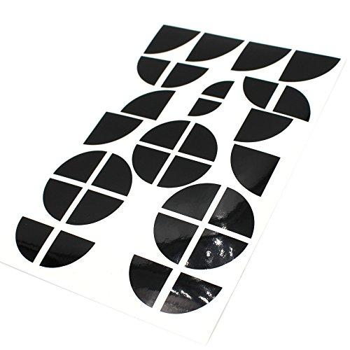 Finest-Folia 4D Carbonfolie Emblem Ecken Aufkleber (K004 Schwarz Glanz)