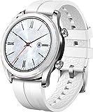 """Huawei Watch GT - Smartwatch con Caja de 42 mm de Metal, Pantalla Táctil AMOLED de 1.2"""", Monitor de Ritmo Cardíaco y Sueño, GPS, Sumergible 50 m, Correa Blanca (Edición Elegant)"""