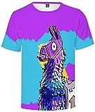 SERAPHY Unisex Game Battle Royale Fortnite Figuras Shirt Colorful Unicorn Camiseta 0041 XXS