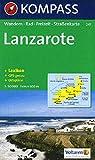 Kompass Karten, Lanzarote: Wandelkaart 1:50 000 (KOMPASS-Wanderkarten, Band 241)