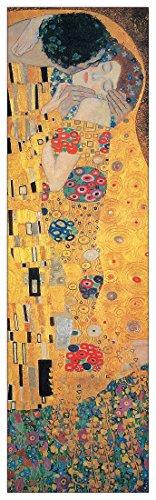 Artopweb Pannelli Decorativi Klimt The Kiss Quadro, Legno, Multicolore, 29x1.8x94 cm