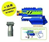 Lazer M.A.D. - Booster Module Accessoires Lazer M.A.D avec 1 Booster 15M + 1 poignée-Super Blaster Kit-Assortiment 2 Couleurs-Modèle aléatoire, 86850, Multicolore