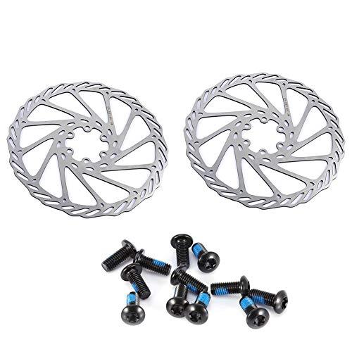 VGEBY1 Set di Freni a Disco per Biciclette, Freni a Disco per Bici da Corsa in Acciaio Inox per Bici da Mountain Bike(180mm)
