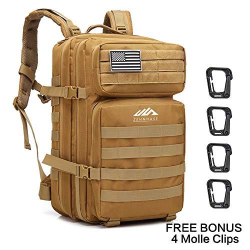 ZEHNHASE Zaino Tattico Militare 45L Tattico Molle Professionale Trekking Zaino Tasche Multiple in...