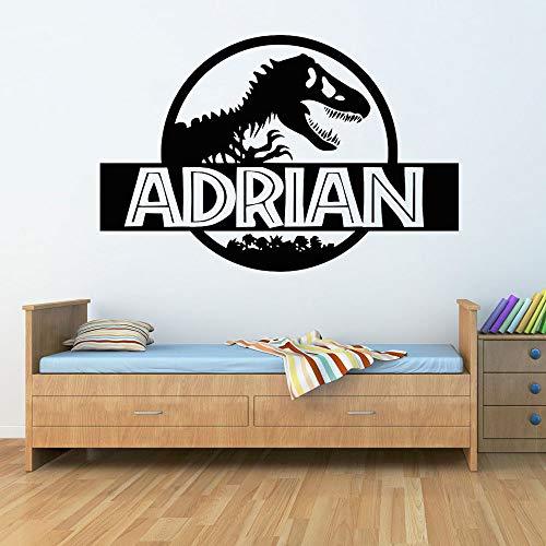 BFMBCH Personalità Adesivo murale dinosauro Camera da letto Dinosauro Nome personalizzato Applique...