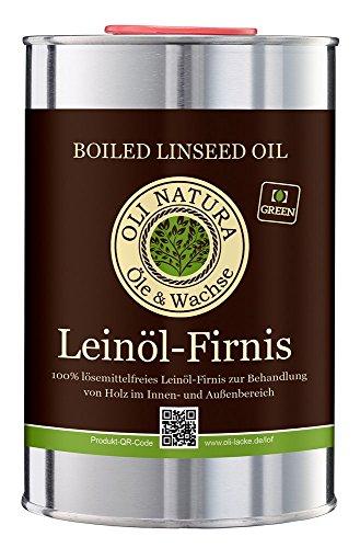 Vernis à l'huile de lin OLI-NATURA, protection biologique du bois, 1 litre,...