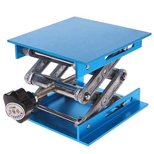 "Good Quality 4""x4"" Aluminum Router Lift Table Woodworking Engraving Lab Lifting Stand Rack Lifting Range 47-143mm"