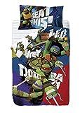 Nickelodeon Tortugas Ninja - Saco nórdico de 2 piezas para cama de 90 cm