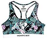 WOMEN'S BEST Sport BH für Damen Büstenhalter, Sports Bra für Frauen mit starkem Halt - Bustier - Paradise (L)