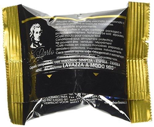 Caffè Borbone Don Carlo Miscela Oro- Confezione da 100 pezzi Capsule - Compatibile Lavazza A Modo Mio