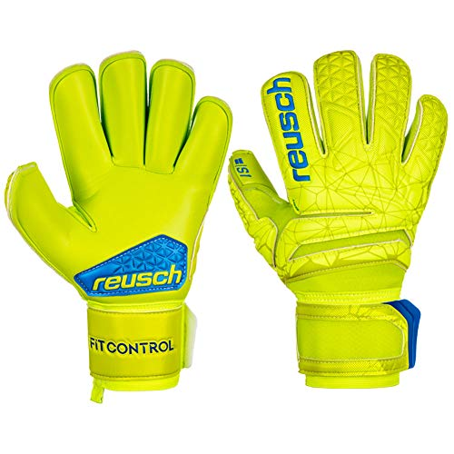 Reusch Fit Control S1 Roll Finger - Guanti da Portiere da Uomo, Uomo, 3970237, Lime/Safety Yellow,...