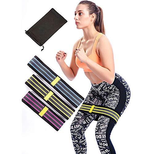 GuanDongQi Bandas Slingshot de Cadera de Tela de Pieza: Ideal para Mujeres y Hombres para maximizar el Entrenamiento