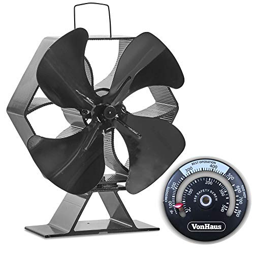 Before we forget, this device has a solid aluminium construction with carry handles for hassle-free portability. We are not sure how long this stove fan will last, but we are convinced its sturdy build can stand the test of time. This still a relatively new product on the market and so its durability has not been proven yet. Overall, a decent choice for heat circulation and incredibly quiet.
