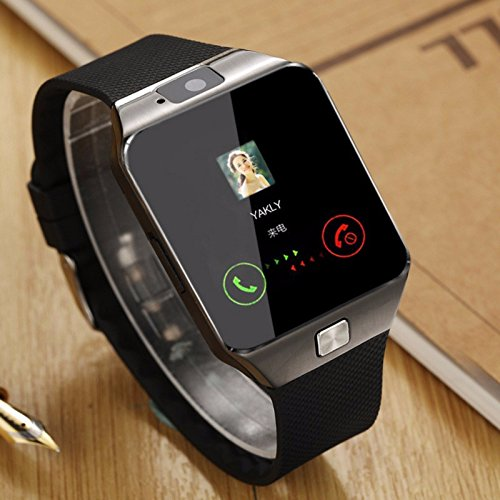 Moto G5 Plus Compatible A Z Link Bluetooth DZ09 Smart Watch Wrist Watch Phone with Camera & SIM Card Support Hot Fashion New Arrival Best Selling Premium Quality Lowest Price with Apps like Facebook, Whatsapp, Twitter, Time Schedule, Read Message or News, Sports, Health, Pedometer, Sedentary Remind & Sleep Monitoring, Better Display, Loud Speaker, Microphone, Touch Screen, Multi-Language, Compatible with Android iOS Mobile Tablet-Assorted Color