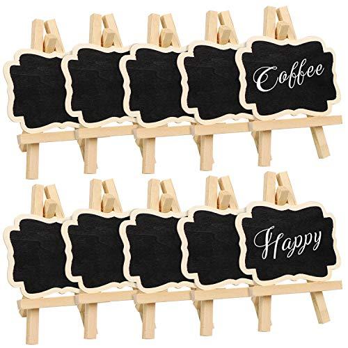 meetory in legno Mini Rettangolo Lavagna segnaposto con cavalletto per Message Board Segni per Home...