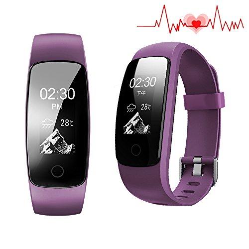 Fitness Tracker, su misura per attività sportiva con cardiofrequenzimetro, 14 modi di sport, 5...