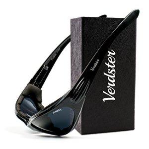 Verdster TourDePro POLARISIERTE Sonnenbrillen für Herren und Damen - ideal zum Fahren, Angeln oder für Motorrad - UV geschützter, verbesserter, komfortabler, faltbarer Rahmen (Schwarz) 1