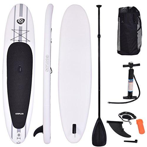 FDS COSTWAY Paddelboard Surfboard Sup-Board Paddelbrett Stand Up Board Set 335 x 76 x 15cm aufblasbar inkl. Sicherungsleine