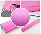 3,22€/m² 3D Carbon Folie - PINK - 100 x 152 cm selbstklebend flexibel Car Wrapping Folie