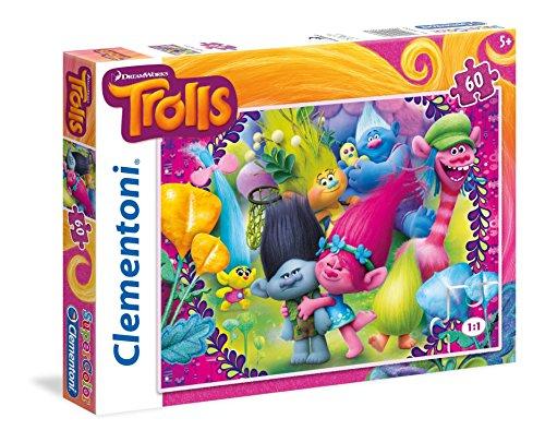 Clementoni 26958 - Puzzle 60 Trolls