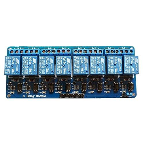 51UweizRW5L - kuman 5V 8 Canales Escudo Módulo de Relé para Arduino UNO-R3 1280 2560 ARM PIC AVR STM32 Raspberry Pi DSP K30