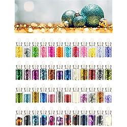 Imanom decorazione nail art tool kit 48PCS 3D nail art supply, polvere glitter, pietra, con strass e paillettes nail Salons attrezzature DIY Craft design