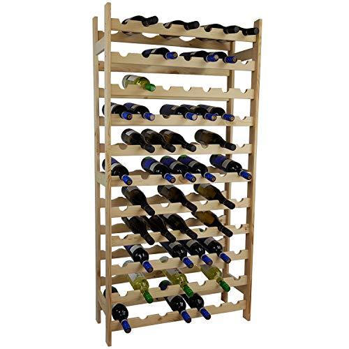SunDeluxe Bacchus Basic portabottiglie per Vino in 3 Diverse Misure - Cantinetta portabottiglie in...