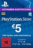 PSN Card-Aufstockung | 5 EUR | PS4, PS3, PS Vita Playstation Network Download Code - deutsches Konto