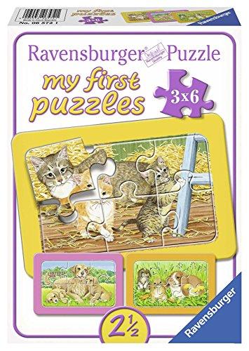 Ravensburger 06572 - My First Puzzle 3x6 Pezzi, Dolci Animali da Compagnia