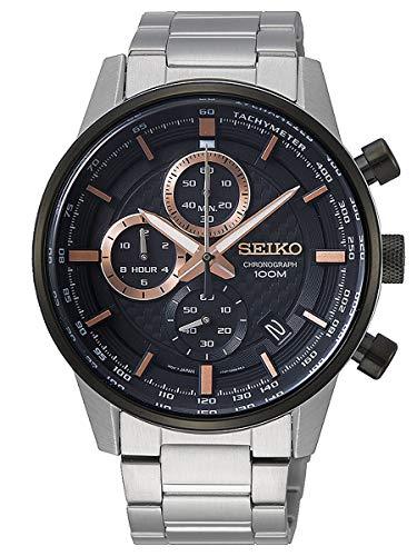 Seiko Orologio Cronografo Quarzo Uomo con Cinturino in Acciaio Inox SSB331P1