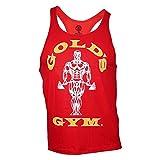 Golds Gym - Canottiera Stringer Tank classica, 100% cotone, Rosso (rosso), m