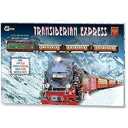 Tren Electrico Metalico con LUZ Expreso Transiberiano + Accesorios 450_tren