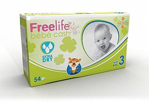 FreeLife Pannolini Extra Dry, Multicolore, 346