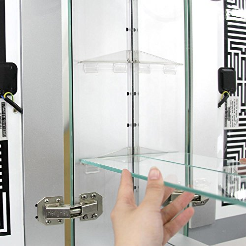 minifair led illuminated bathroom mirror cabinet shaver demister