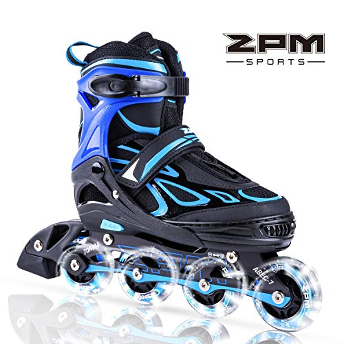 2PM SPORTS Vinal Regolabili Pattini in Linea Bambina,Light up Roller Pattini Roller Inline Skates...