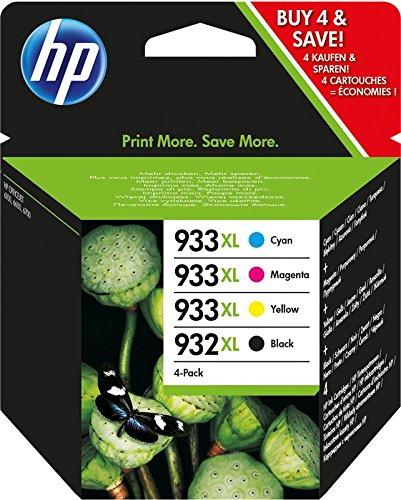 HP 932-933 XL Combo Pack C2P42AE Cartucce Originali Monocromatico, Ciano, Giallo e Magenta per...