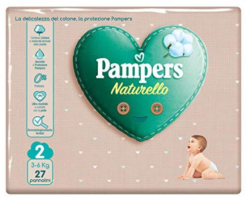 Pampers Naturello Mini, 27 Pannolini, Taglia 2 (3-6 kg)