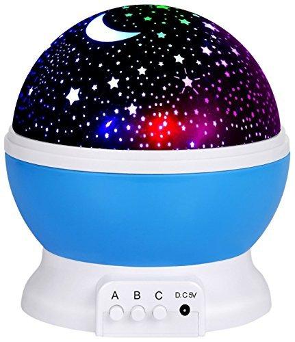 Naisidier Luce notturna Lampada, stelle proiettore romantica luce notturna a LED lampade da...
