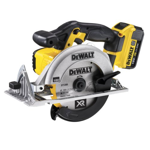 A brilliant cordless model, battery seems to last for ages, lot's of power with a 4Ah battery and is a right little workhorse. The only thing we would point out that if you right handed, the blade is on your side so be sure to where eye protection. Other than that, this saw can't be faulted.