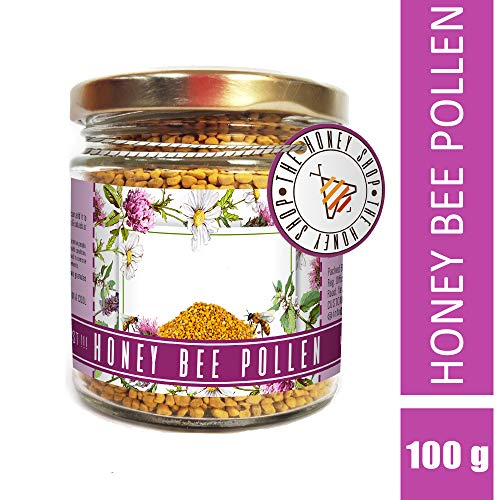 THE HONEY SHOP® High Grade Bee Pollen Granules Super Food and Immunity Booster (100g)